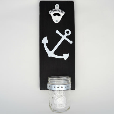 Anchor - Wall Mounted Bottle Opener with Cap Catcher