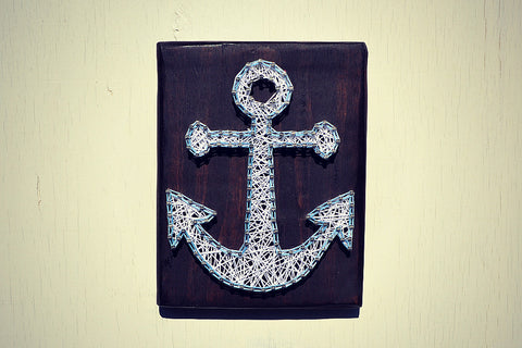 Anchor String and Nail Art - Wall Decor - Cranberry Collective - Cape Cod Gifts - Beach and Nautical Decor