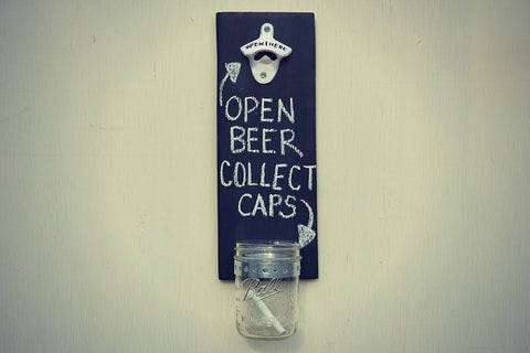 Cranberry Collective Cap Catching Bottle Opener Black Chalkboard