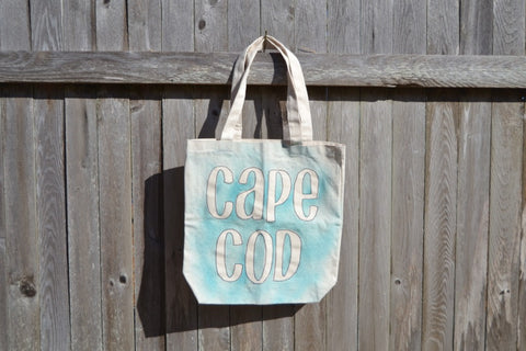 Cape Cod Canvas Beach Bag Spray Paint Style - Cranberry Collective - Cape Cod Gifts - Beach and Nautical Decor