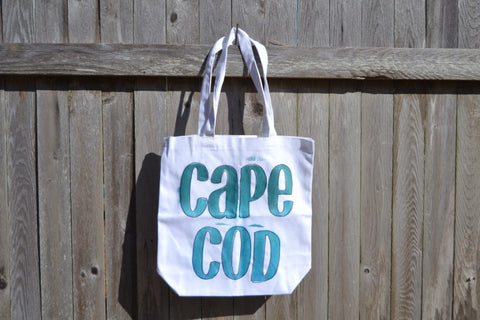 Casual Cape Cod Beach Bag Watercolor Style - Cranberry Collective - Cape Cod Gifts - Beach and Nautical Decor