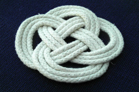 Carrick Bend Knot Rope Coasters (Set of 5) - Cranberry Collective - Cape Cod Gifts - Beach and Nautical Decor
