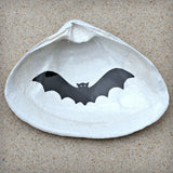 Bat Halloween Clam Shell Dish | Jewelry Dish - Spoon Rest - Soap Dish - Cranberry Collective - Cape Cod Gifts - Beach and Nautical Decor