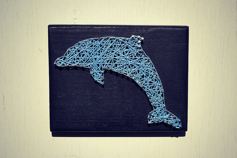 Dolphin String And Nail Art Wall Decor Cranberry Collective