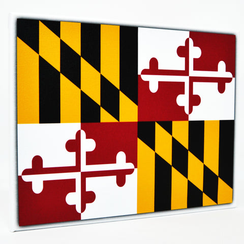 Maryland Flag Decor - 8x10 MD State Flag Canvas - Ready To Hang Maryland Decor