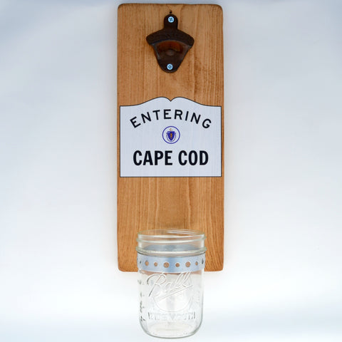 Entering Cape Cod - Wall Mounted Bottle Opener with Cap Catcher