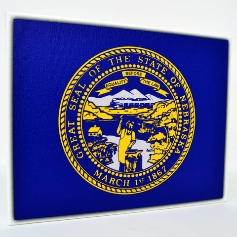 Nebraska Flag Decor - 8x10 NE State Flag Canvas - Ready To Hang Nebraska Decor