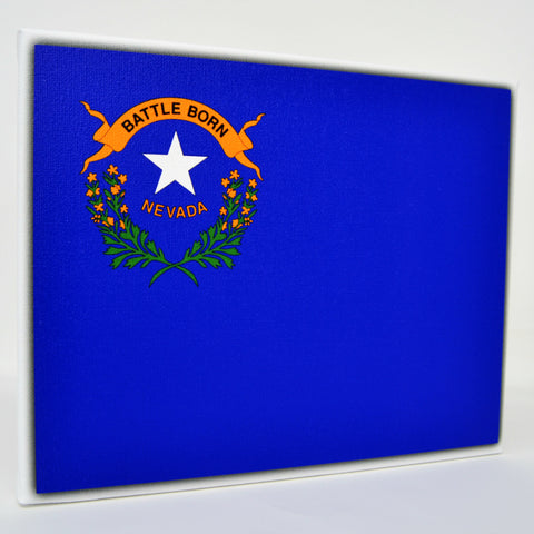 Nevada Flag Decor - 8x10 NV State Flag Canvas - Ready To Hang Nevada Decor