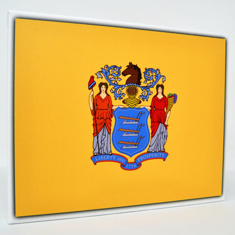 New Jersey Flag Decor - 8x10 NJ State Flag Canvas - Ready To Hang New Jersey Decor