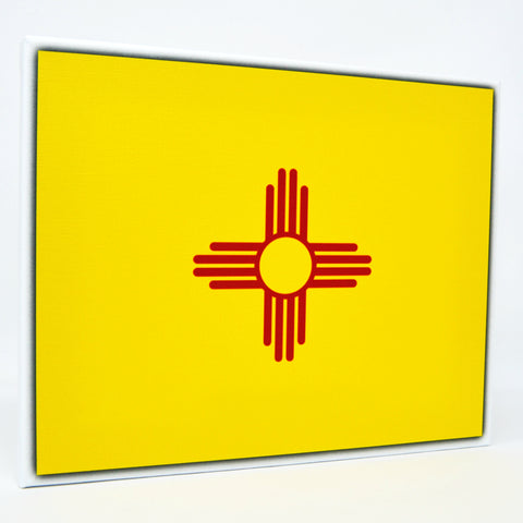 New Mexico Flag Decor - 8x10 NM State Flag Canvas - Ready To Hang New Mexico Decor