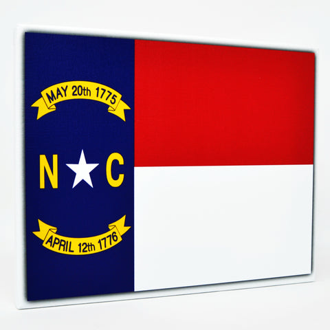 North Carolina Flag Decor - 8x10 NC State Flag Canvas - Ready To Hang North Carolina Decor