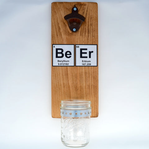 Periodic Table - Wall Mounted Bottle Opener with Cap Catcher