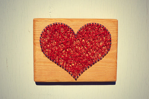 Heart String And Nail Art Wall Decor Cranberry Collective