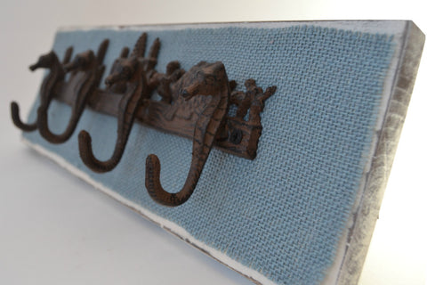 Sea Horse Coat Rack - Cranberry Collective - Cape Cod Gifts - Beach and Nautical Decor