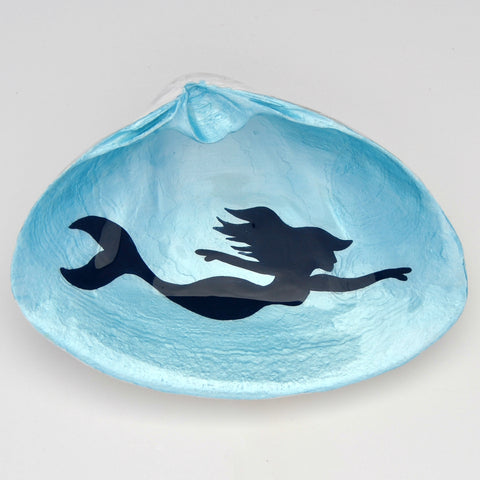 Swimming Mermaid Clam Shell Dish | Jewelry Dish - Spoon Rest - Soap Dish - Cranberry Collective - Cape Cod Gifts - Beach and Nautical Decor