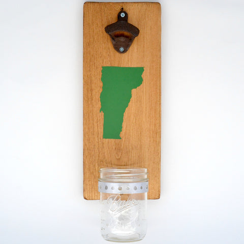 Vermont - Wall Mounted Bottle Opener with Cap Catcher - Cranberry Collective - Cape Cod Gifts - Beach and Nautical Decor