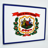 West Virginia Flag Decor - 8x10 WV State Flag Canvas - Ready To Hang West Virginia Decor