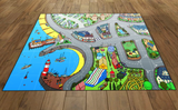 Charlotte's Cove Mat – 120x165 cm/15 cm grid - Suitable for Programmable Floor Robots i.e. Bee-Bots