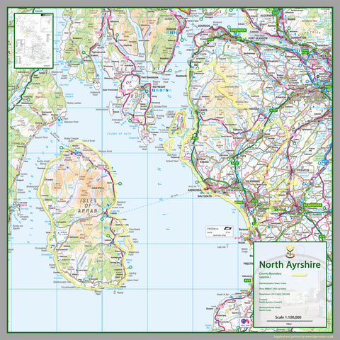 North Ayrshire County Map