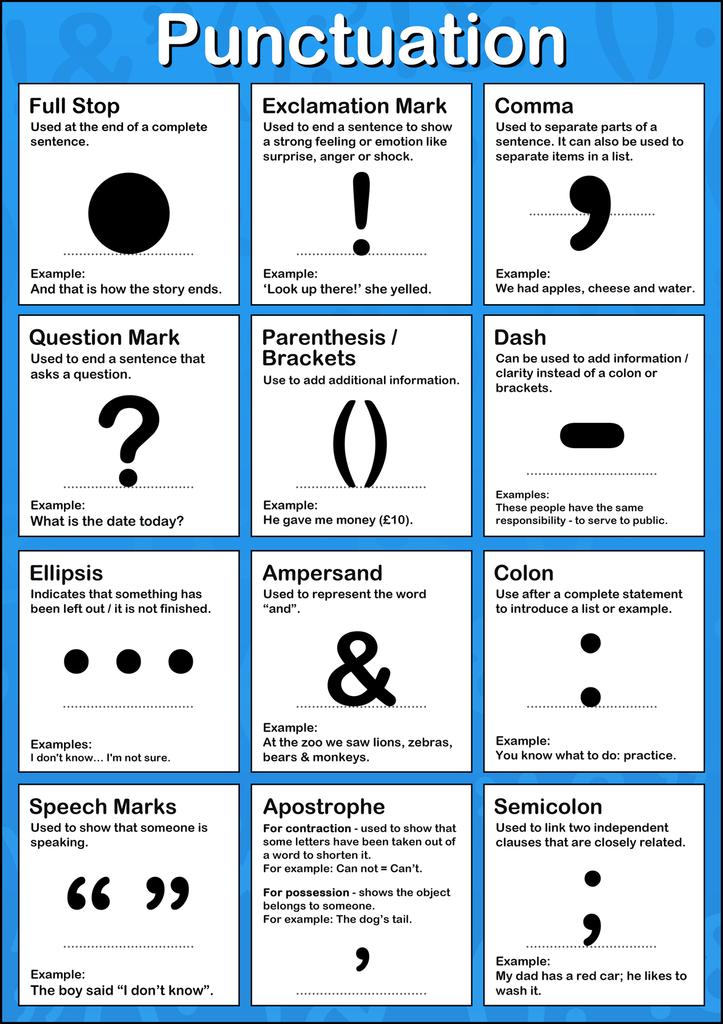 Punctuation Poster Tiger Moon