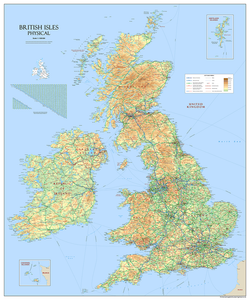 Giant British Isles Map - vinyl (150 x 180 cm/1.5 x 1.8 m)