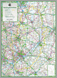 Nottinghamshire, a county in the Midlands of England, UK.  This map covers the City of Nottingham and towns:   Newark  Retford  Mansfield  Beeston  Southwell  Worksop  and the Boroughs of:   Ashfield Bassetlaw Broxtowe Gedling Rushcliffe Mansfield Newark & Sherwood