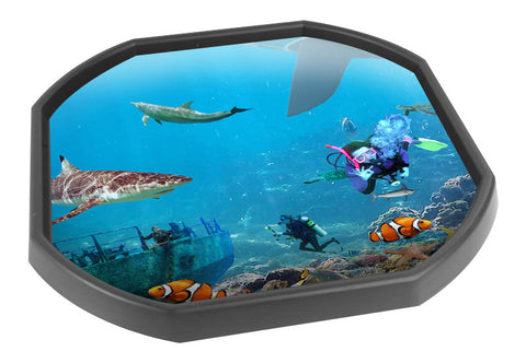 Under Water World Tuff Tray Mat (Black Tray Not Included)