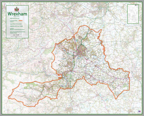 Wrexham County Map