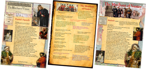 The Merchant of Venice - Famous Quotes, Portia's Speech, Shylock's Speech Poster Pack