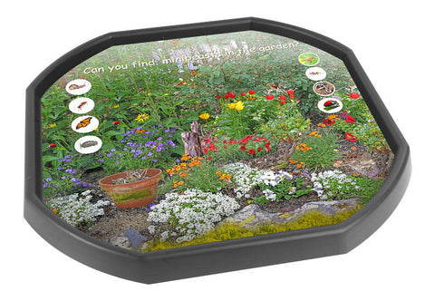 Garden Minibeasts Tuff Tray Mat (Black Tray Not Included)