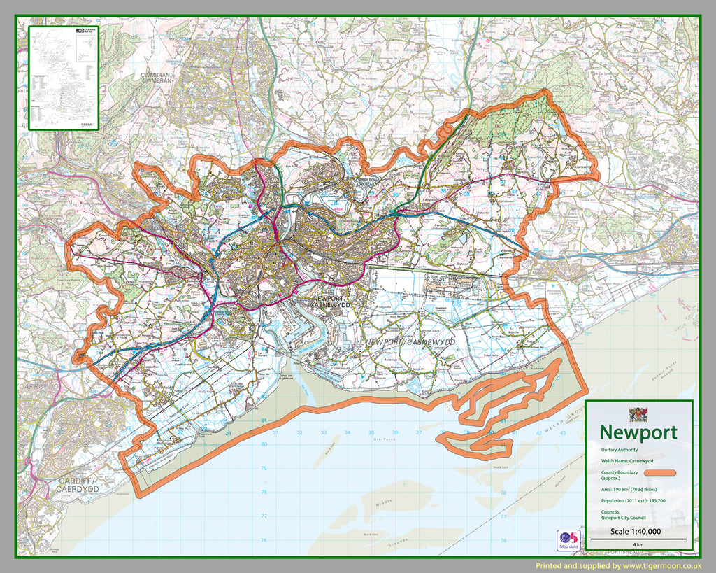 Picture of: Newport County Map Tiger Moon