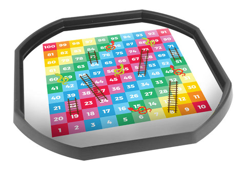 Snakes and Ladders Game Tuff Tray Mat (Black Tray Not Included)
