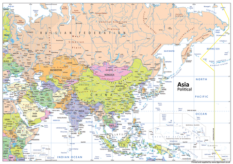Asia Political Map