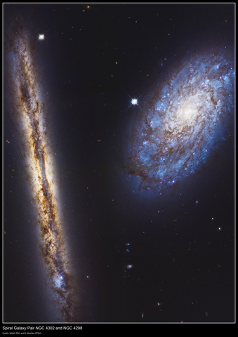 Spiral Galaxy Pair NGC 4302 and NGC 4298