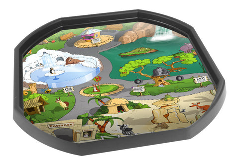 Alphabet Zoo Scene Tuff Tray Mat (Black Tray Not Included)