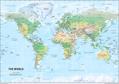 The World Physical Map