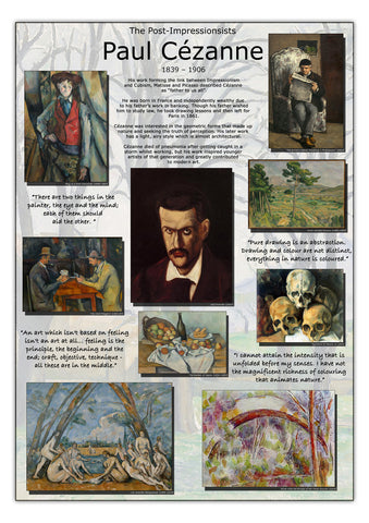 Paul Cézanne Post Impressionists Poster