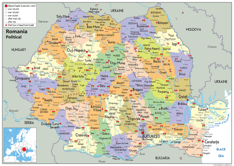 Romania Political Map
