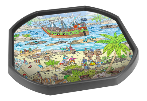 Pirate Scene Tuff Tray Mat (Black Tray Not Included)