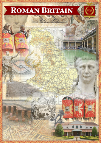 Roman Britain Montage Poster