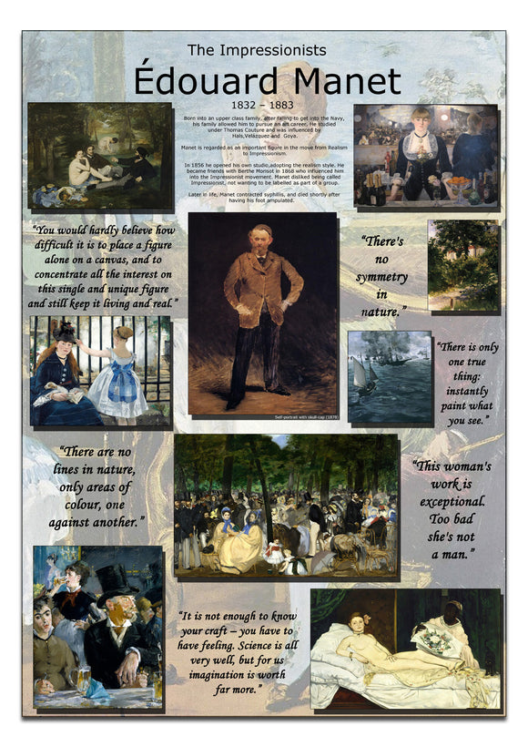 Edouard Manet Impressionists Poster