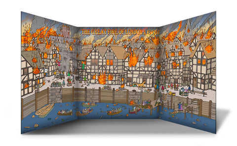 Great Fire of London Scene Free Standing Role Play Scene Setter