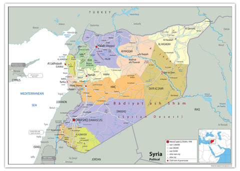 Syria Political Map