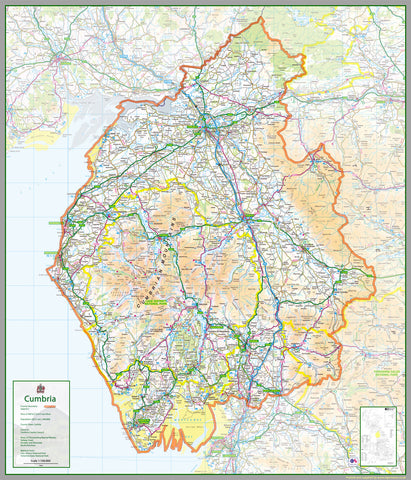 Cumbria County Map