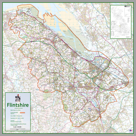 Flintshire County Map