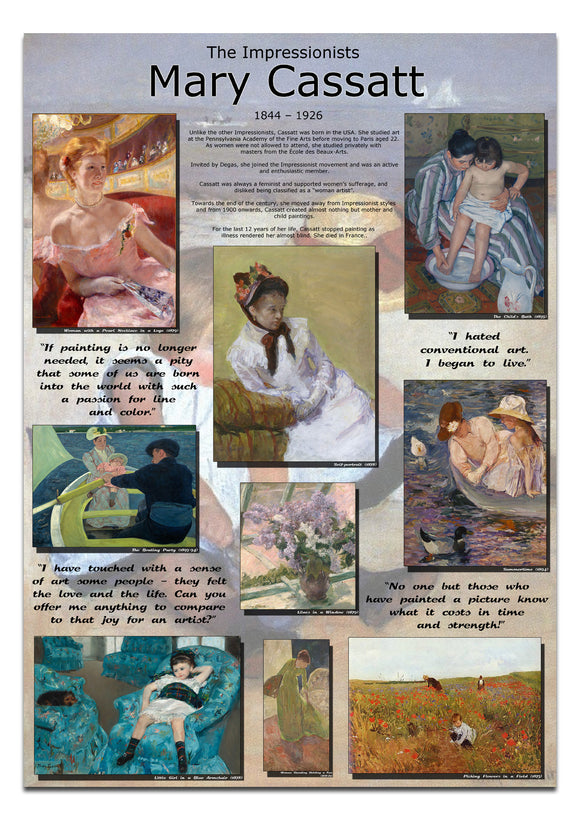 Mary Cassat Impressionists Poster