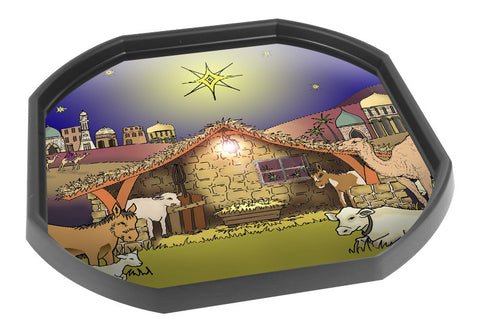 Modern Christmas Nativity Tuff Tray Mat (Black Tray Not Included)
