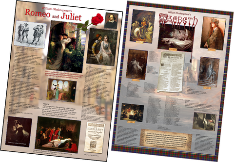 William Shakespeare's Romeo and Juliet and Macbeth Posters