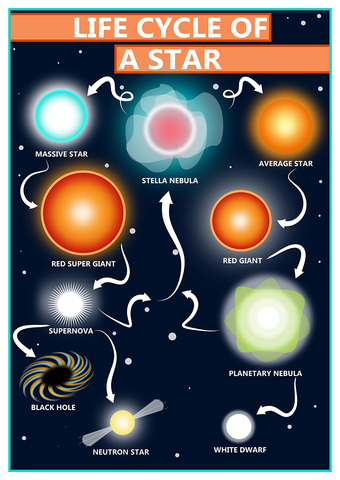 Life Cycle of a Star Poster