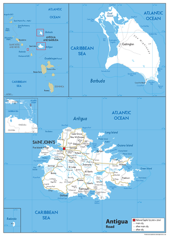 Antigua Road Map